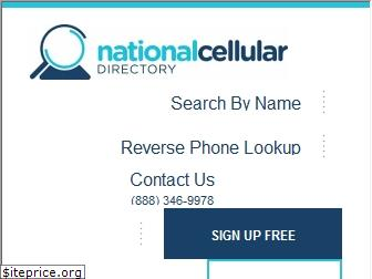 nationalcellulardirectory.com