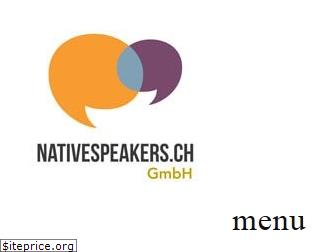 nativespeakers.ch
