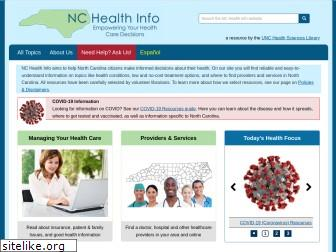 nchealthinfo.org
