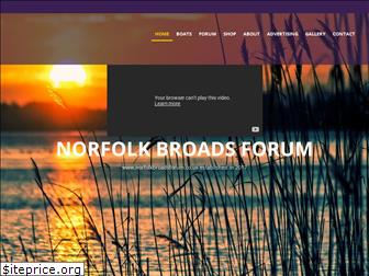 www.norfolkbroadsforum.co.uk website price