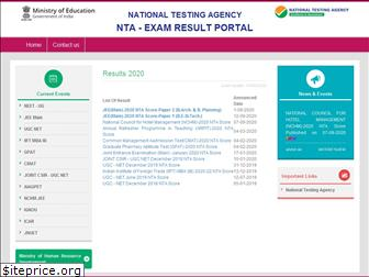 ntaresults.nic.in