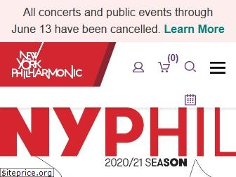 www.nyphil.org website price