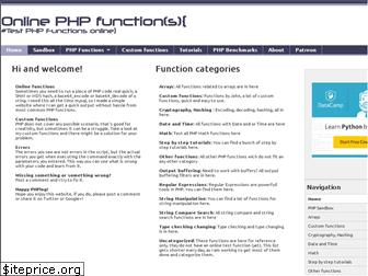 onlinephpfunctions.com