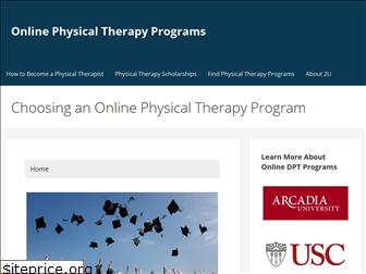 onlinephysicaltherapyprograms.com