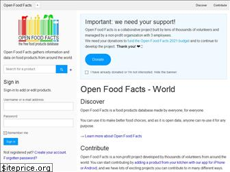 openfoodfacts.org