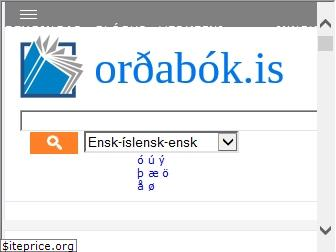 www.ordabok.is website price