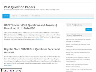 www.pastquestionpapers.com.ng website price
