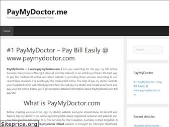 paymydoctor.me