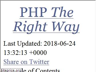 phptherightway.com