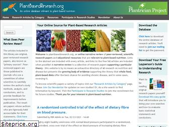 plantbasedresearch.org