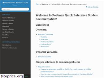 postman-quick-reference-guide.readthedocs.io