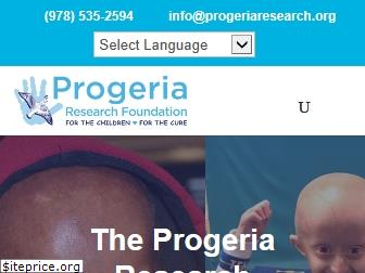 progeriaresearch.org