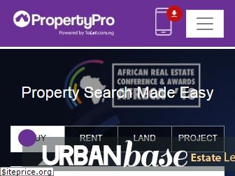 www.propertypro.ng website price