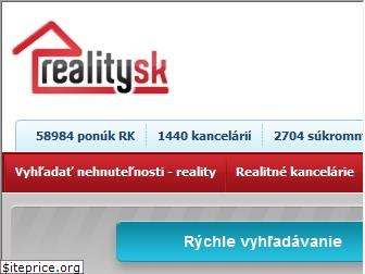 www.reality.sk website price
