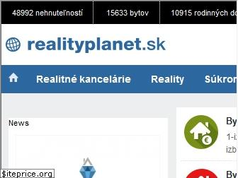 www.realityplanet.sk website price