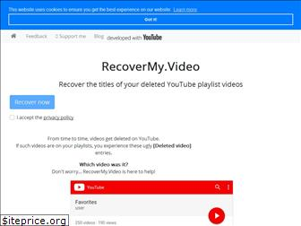 recovermy.video