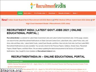 recruitmentindia.in