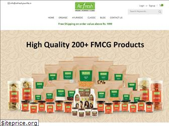 www.refreshyourlife.in website price
