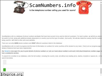 scamnumbers.info