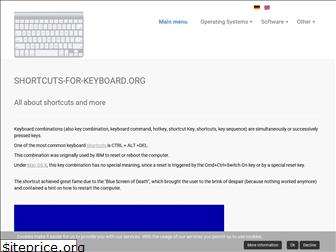 shortcuts-for-keyboard.org