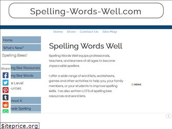spelling-words-well.com
