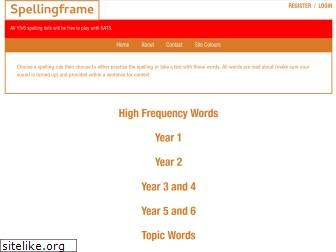 www.spellingframe.co.uk website price