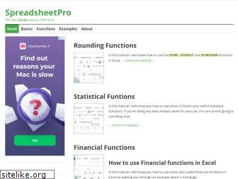spreadsheetpro.net