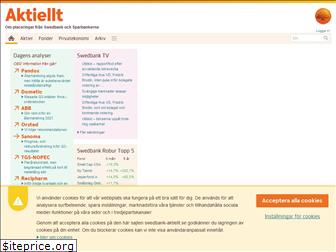 www.swedbank-aktiellt.se website price