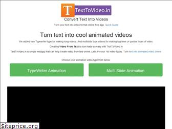 texttovideo.in