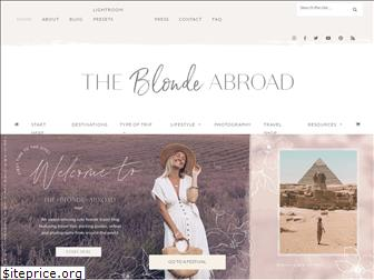 theblondeabroad.com