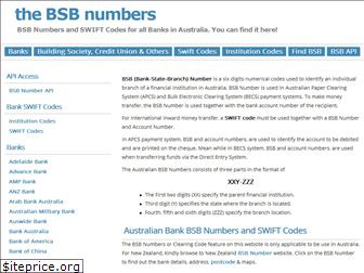 thebsbnumbers.com