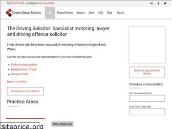 thedrivingsolicitor.co.uk