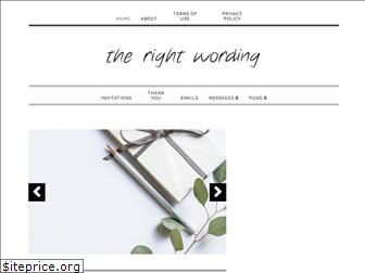 therightwording.com