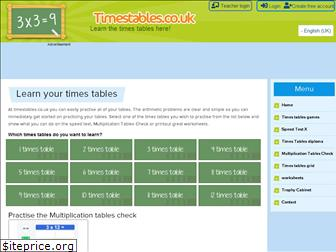 timestables.co.uk