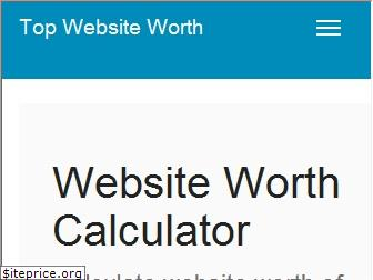 topwebsiteworth.com