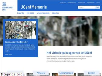 ugentmemorie.be