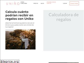 www.uniko.co website price
