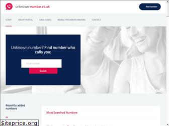 unknown-number.co.uk