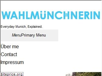 wahlmuenchnerin.com
