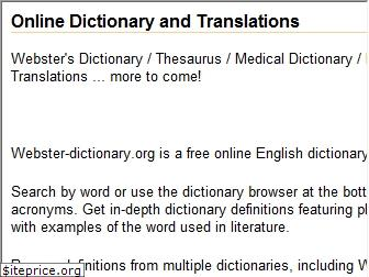 webster-dictionary.org