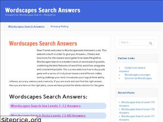 wordscapessearchanswers.com