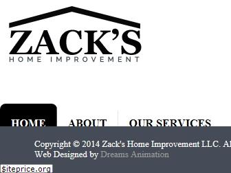 zackshomeimprovement.com